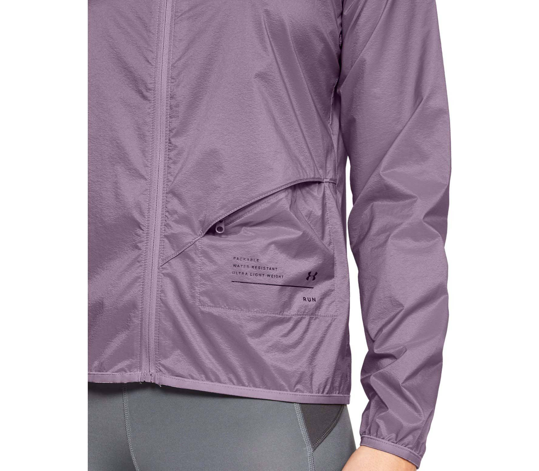 Under Armour - Qualifier Storm Packable Femmes veste de course (pourpre)