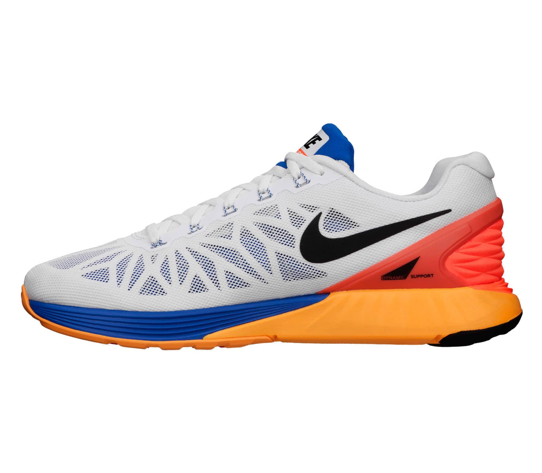 7dedb90333b66 ... cheapest nike lunarglide 6 mens running shoes white red blue 1beca af43b