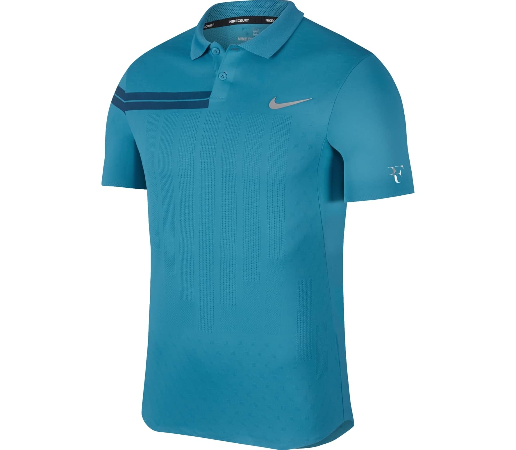 27735c13f Nike - Court Zonal Cooling RF Advantage men's tennis polo top (light blue)