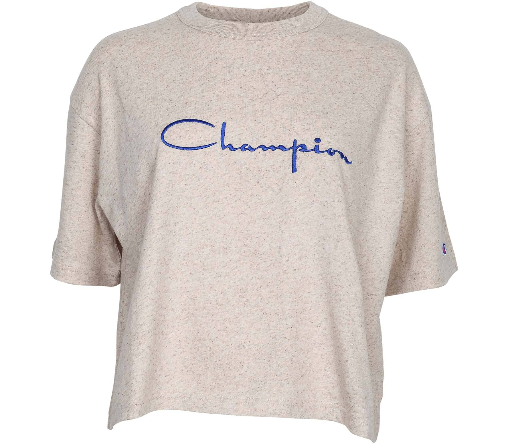 Champion Cropped Shirt Damen beige