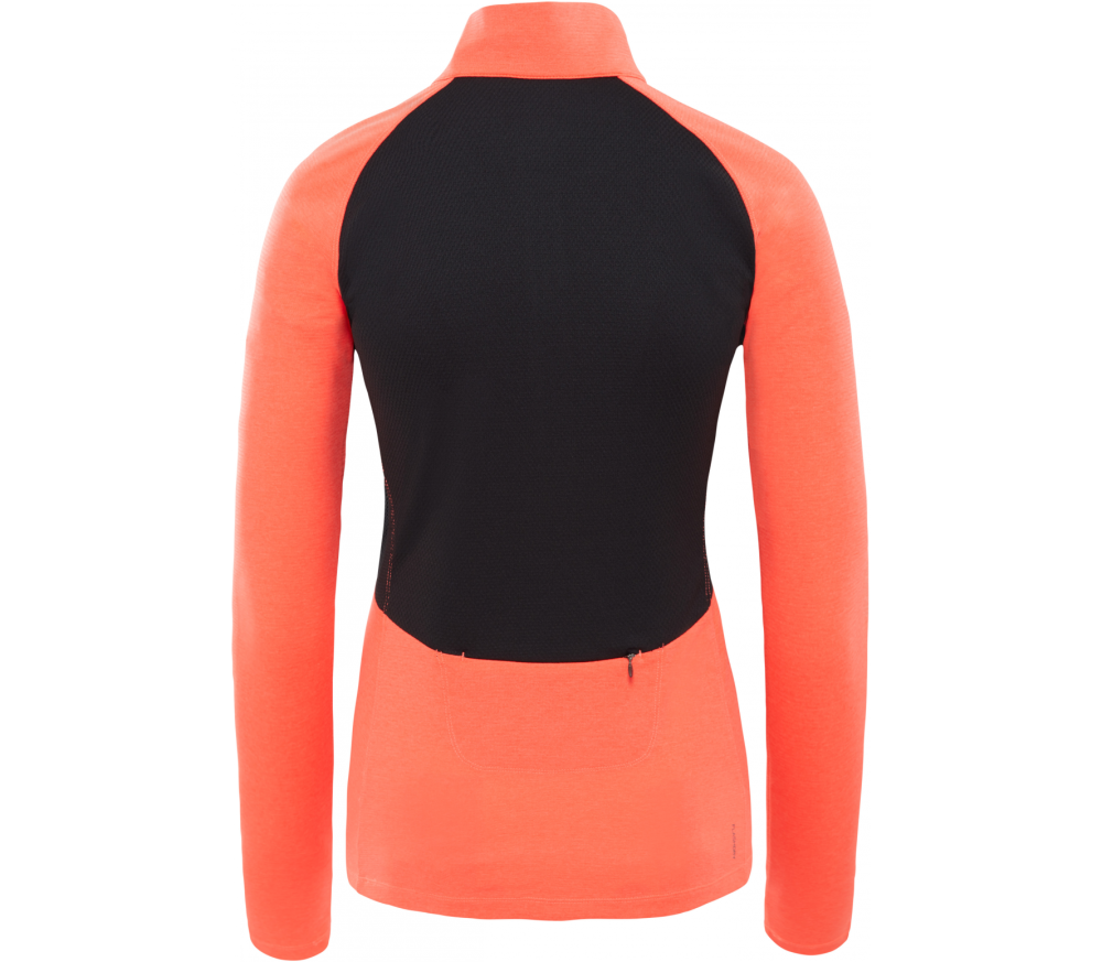 668b5b85a6 The North Face - Ambition 1/4 Zip Femmes Funktionslongsleeve (rouge ...