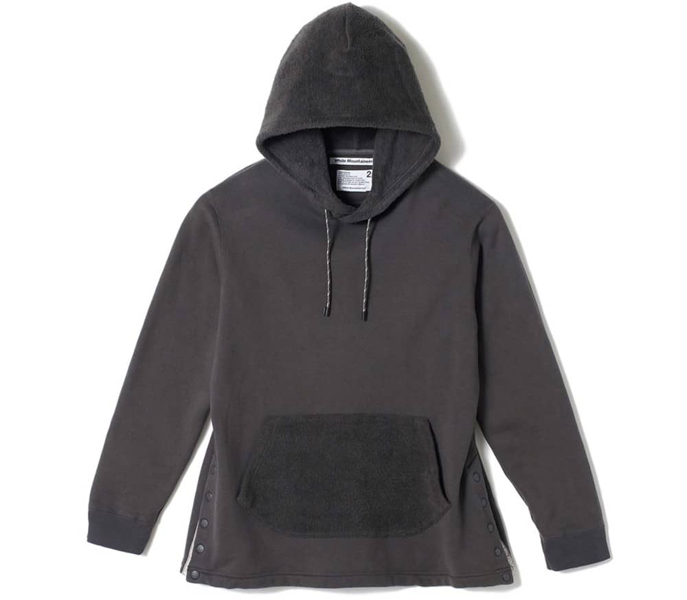 Side Snap Button Men Hoodie