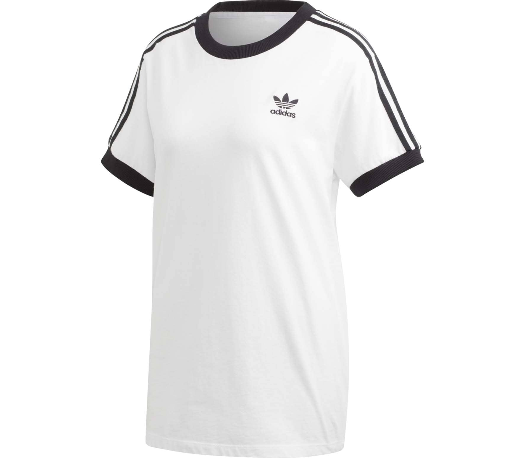 adidas originals adidas originals 3 stripes damen t shirt. Black Bedroom Furniture Sets. Home Design Ideas