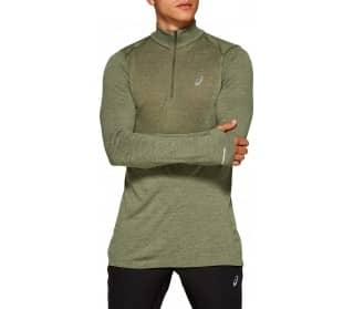 Seamless Ls 1/2 Zip Men Running Top