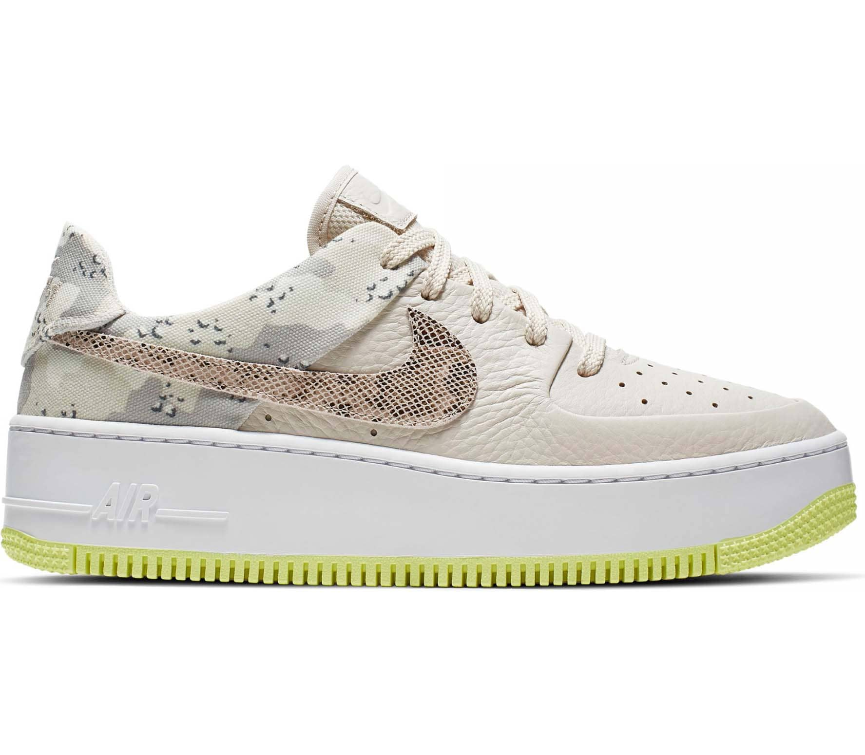 Nike Sportswear Air Force 1 Sage Low Premium Women Sneakers beige