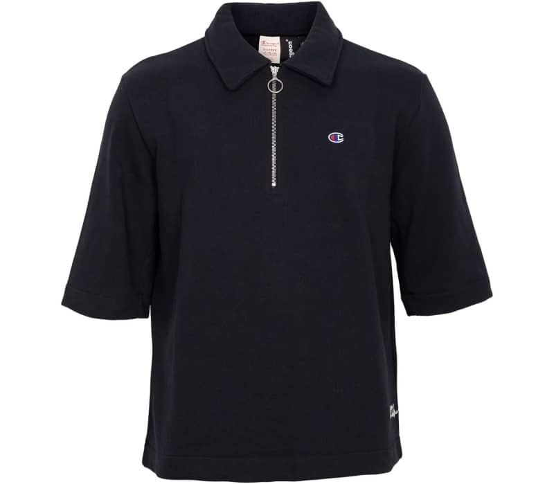 X CLOTHSURGEON Reverse Weave Half Zip Polo Shirt