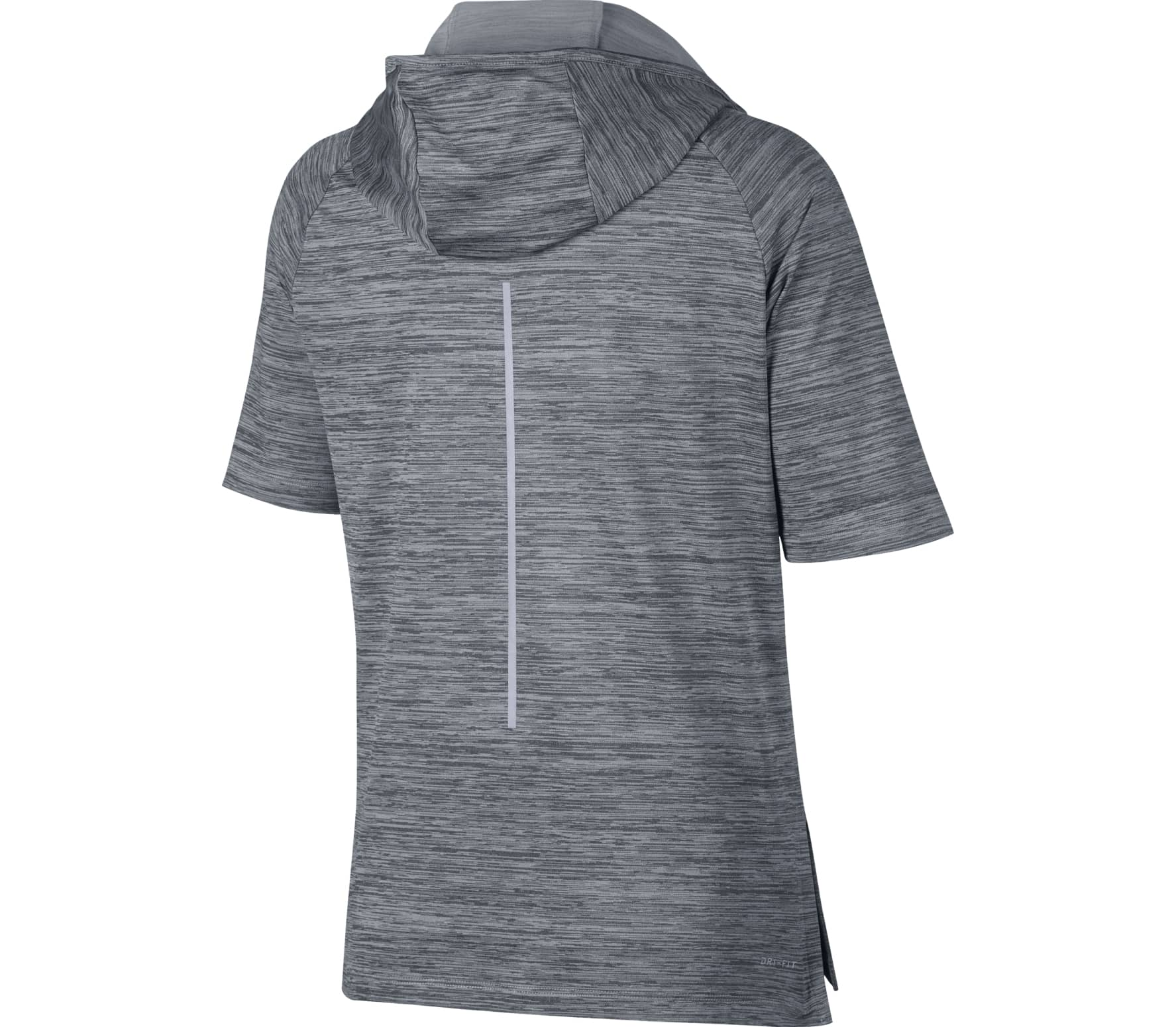Nike - Mid Shortsleeve women s running hoodie (grey) - buy it at the ... 9e05253e69