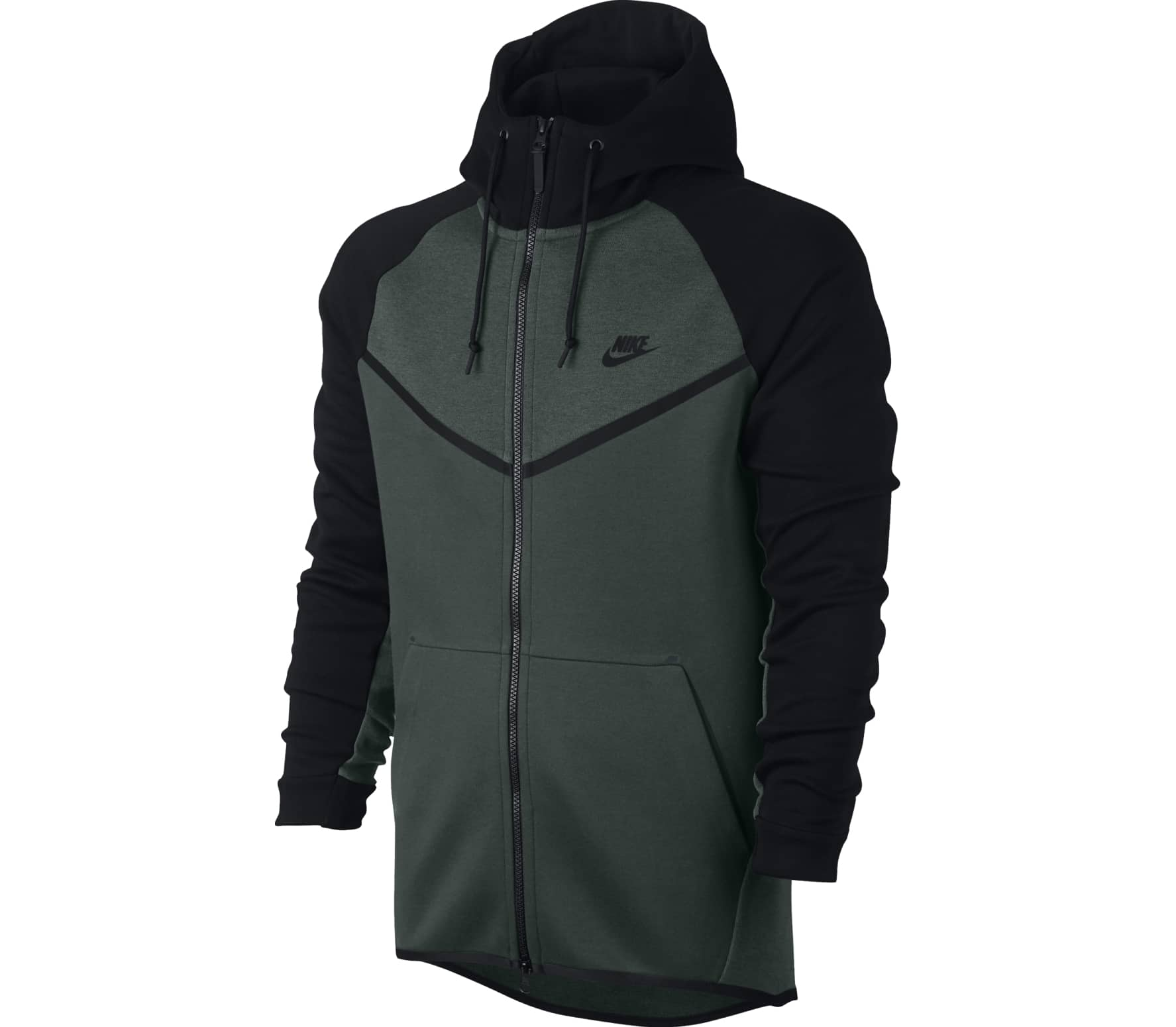 Nike - Tech Fleece WR Full-Zip men s hoodie (dark green grey) Køb ... 7bbe4d982