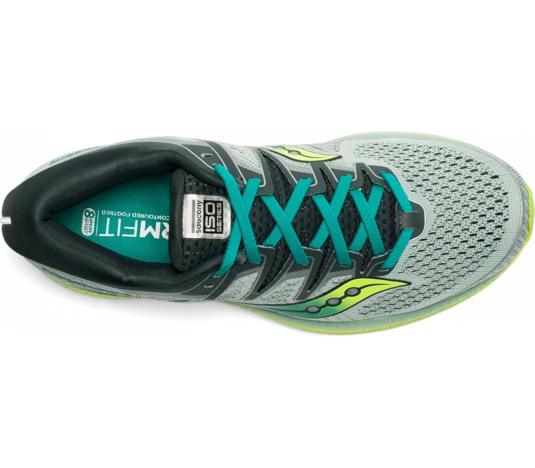 Saucony Triumph Iso 5 Men Running Shoes  green