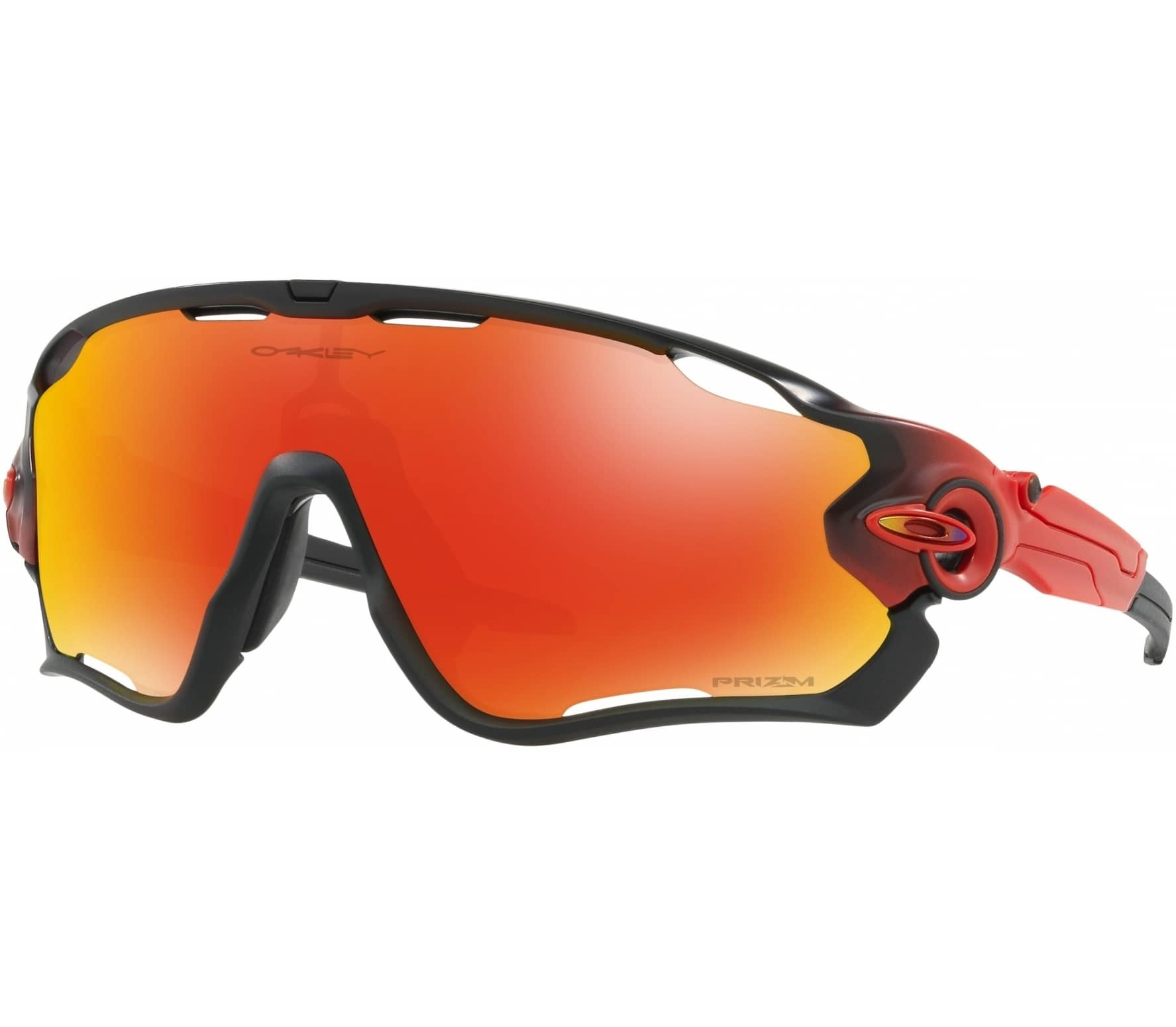 oakley jawbreaker bike brille schwarz rot im online. Black Bedroom Furniture Sets. Home Design Ideas