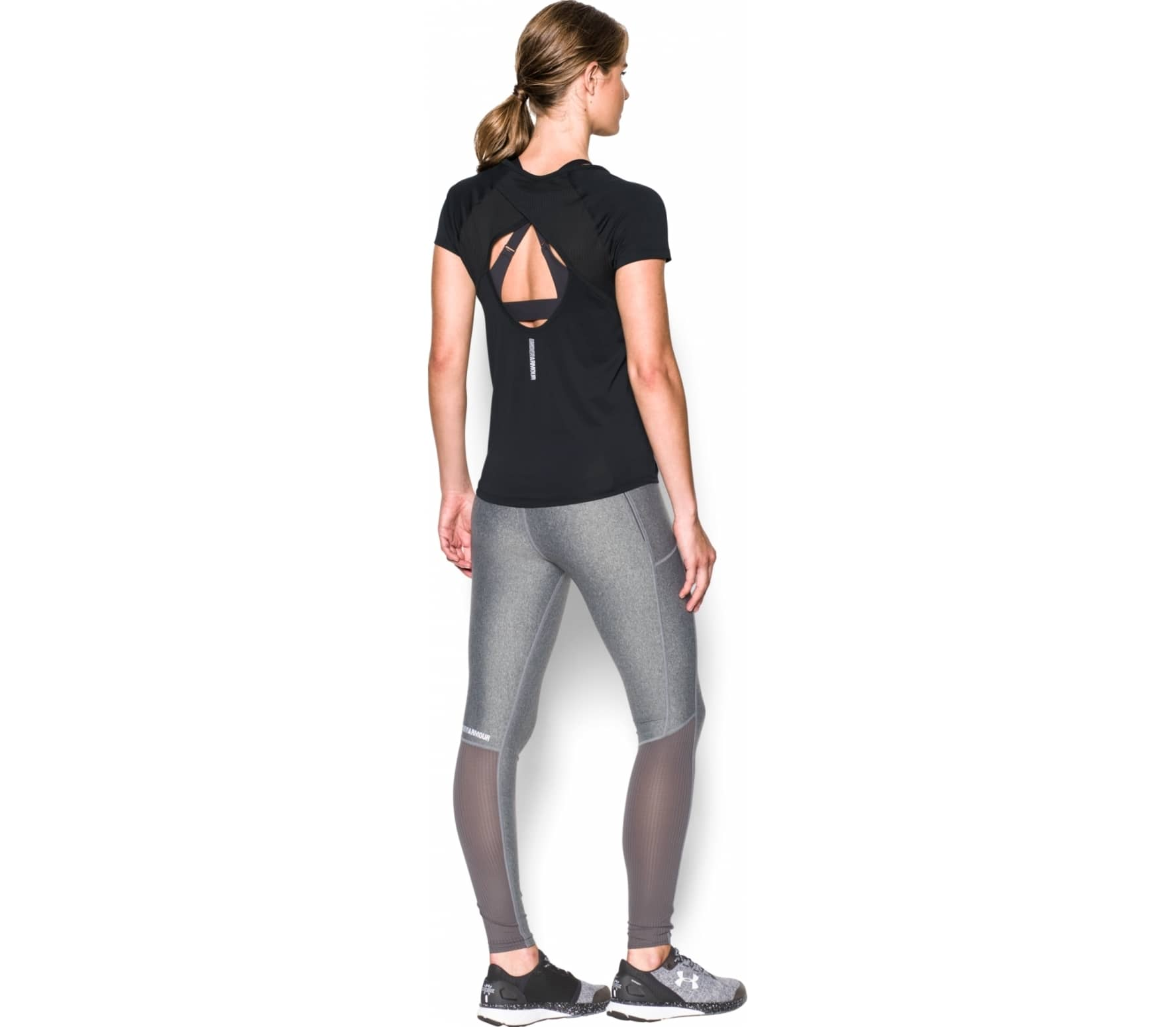 97205f4ddc0e Under Armour - Fly By women s running top (black) Køb online hos ...