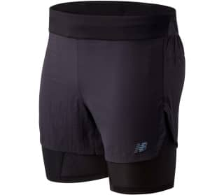 New Balance Q Speed 5in 2 In 1 Heren Shorts