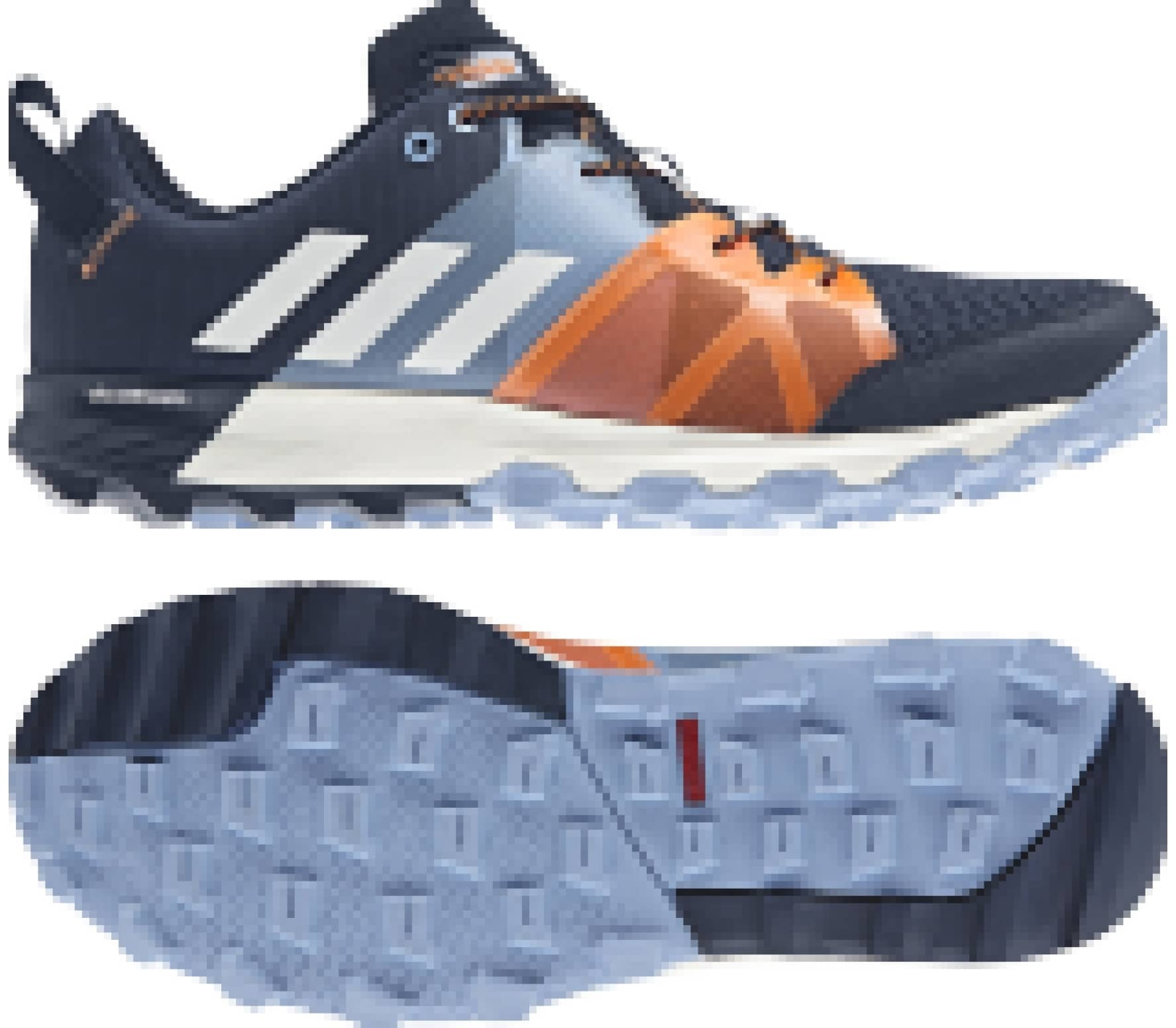innovative design cbc71 3c037 Adidas - Kanadia 8.1 men u0027s trail running shoes (dark blue red)
