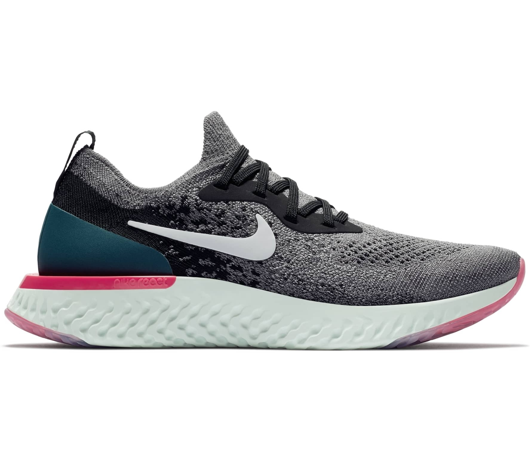 0f71b189850ca Nike - Epic React Flyknit women s running shoes (grey) - buy it at ...
