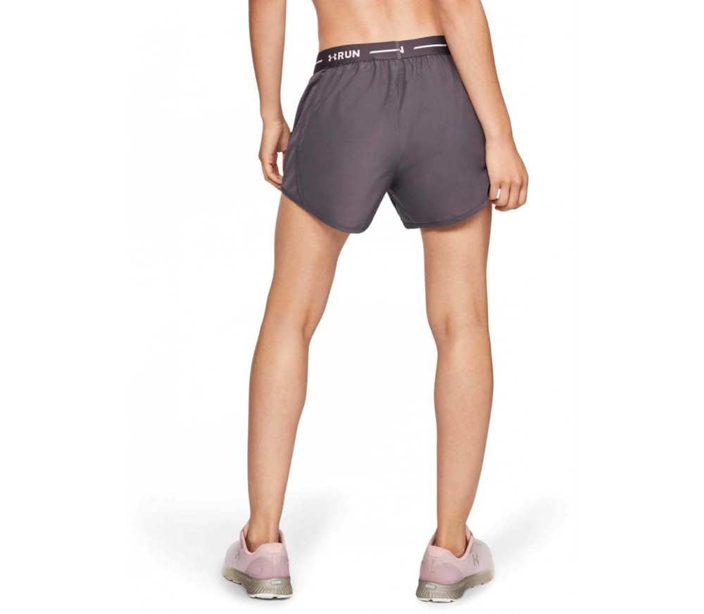 Under Armour Fly By Graphic Waistband Femmes Short running gris