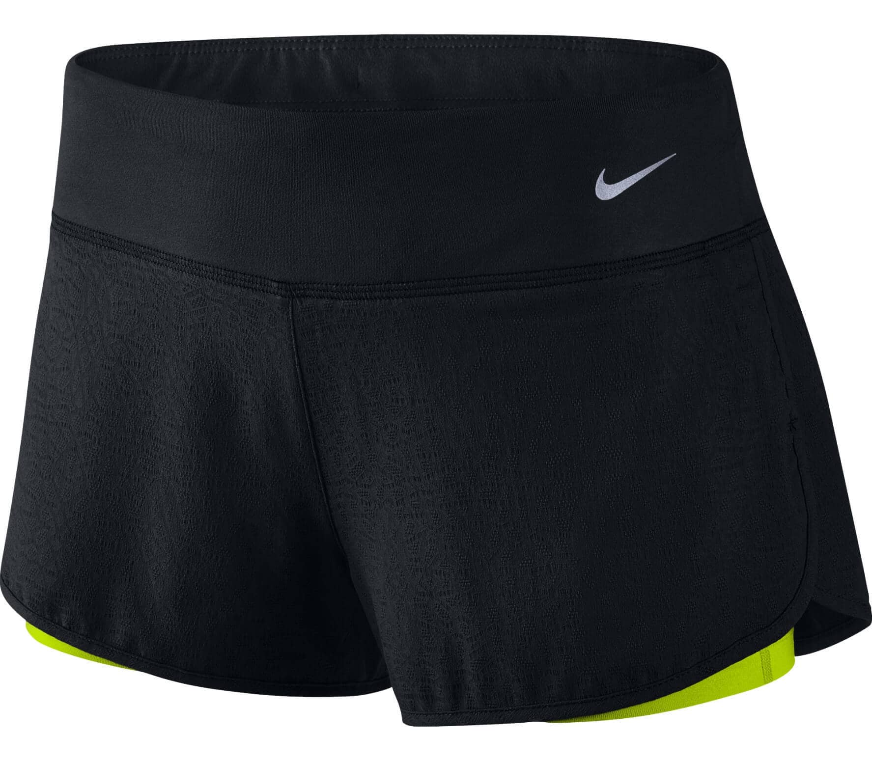 453a62deca074 Nike - 3 Inch Rival Jacquard 2-in-1 women's running shorts (black ...