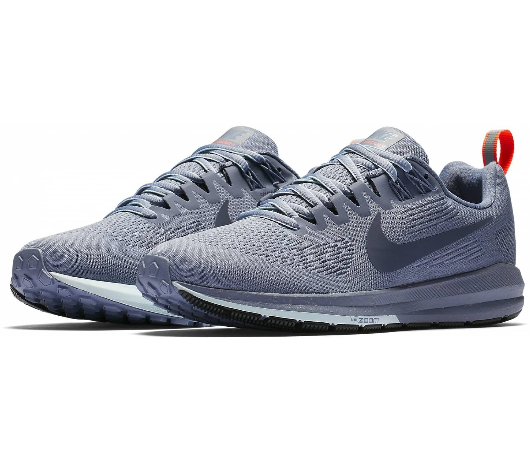premium selection d126c eb53a ... new zealand nike air zoom structure 21 shield womens running shoes blue  grey f9bd1 be6dd