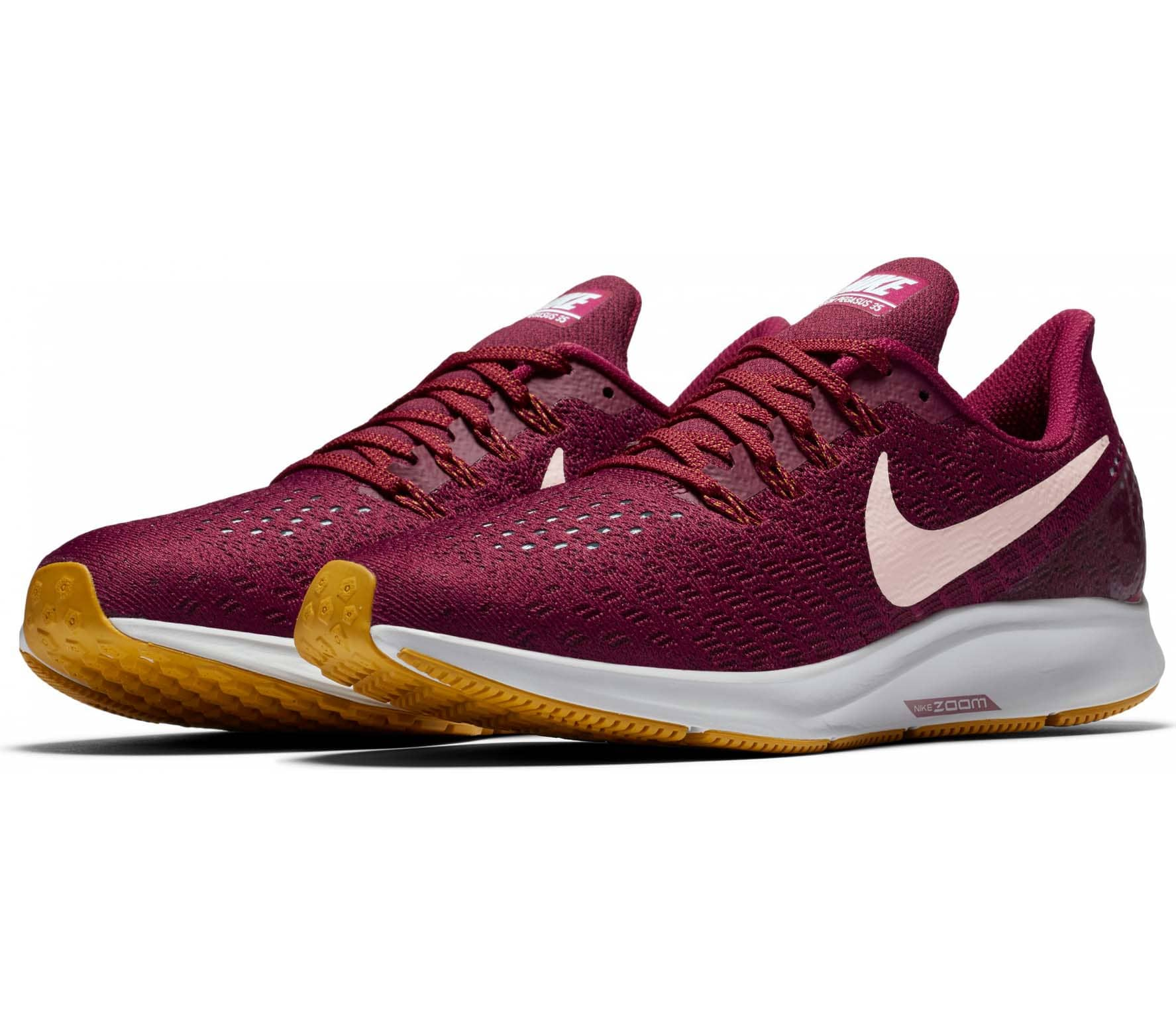 nike air zoom pegasus 35 damen laufschuh rot im online. Black Bedroom Furniture Sets. Home Design Ideas