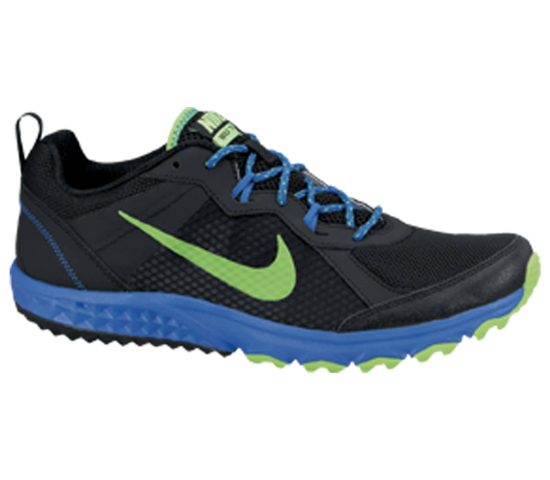 907d9eaca3087 Nike - Wild Trail men s running shoes (black green blue) - buy it at ...