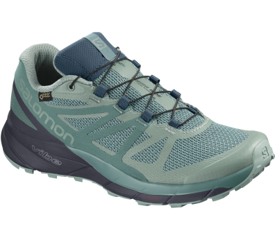 Salomon - Sense Ride GTX Invisible Fit Damen Trailrunningschuh (grau)