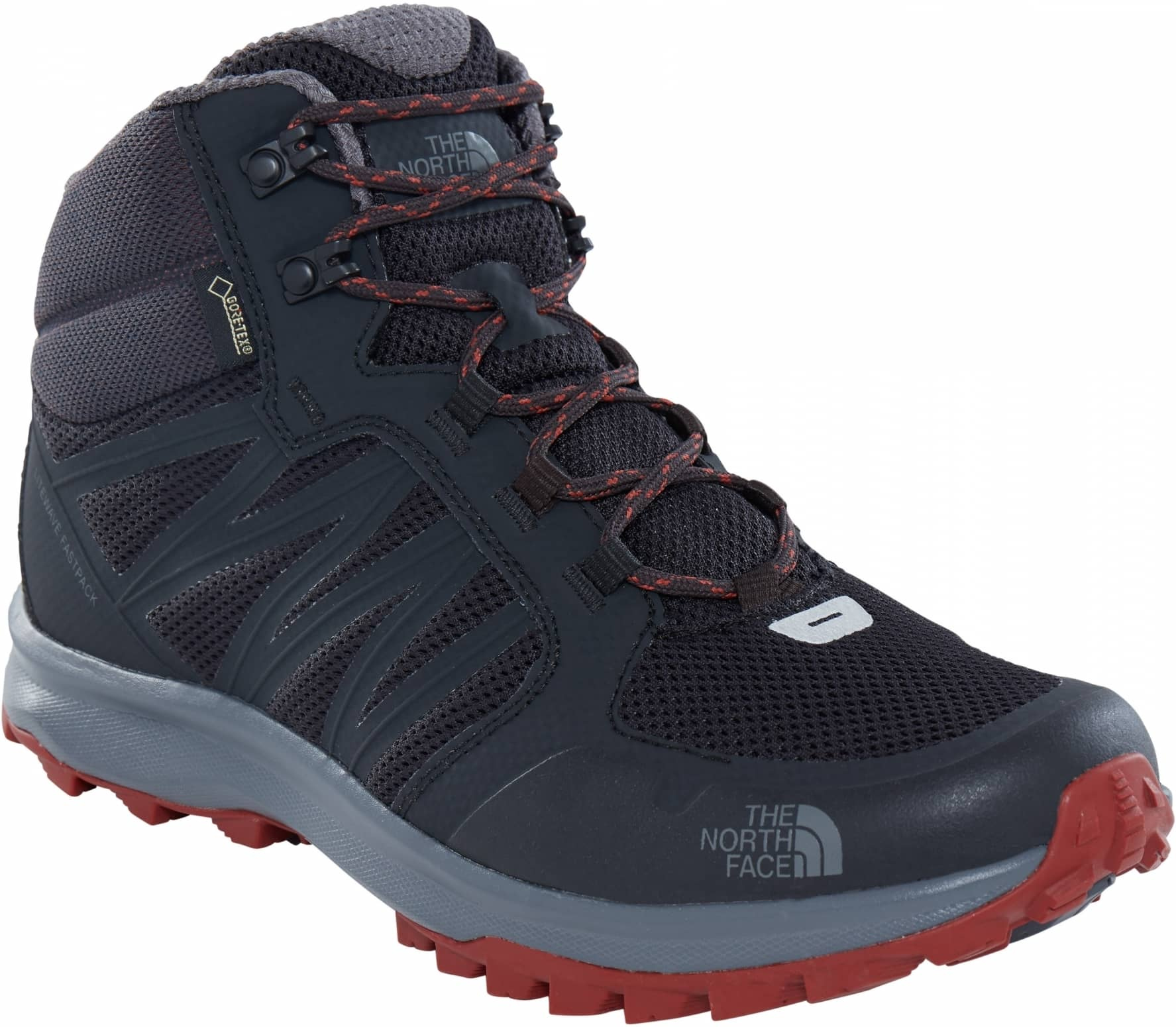 479675f13 The North Face - Litewave Fastpack Mid GTX men's hiking shoes (grey/brown)
