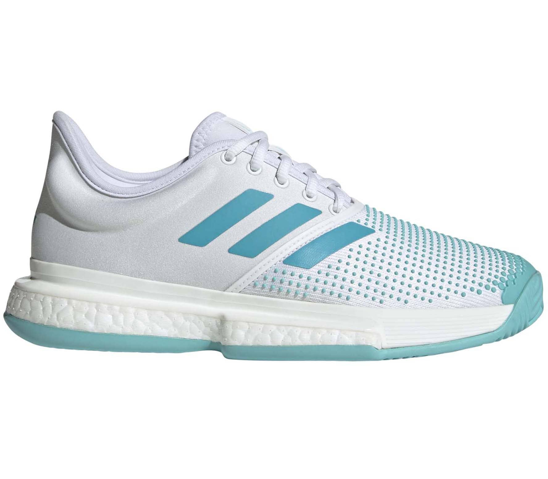 reputable site 41588 39e2f adidas Performance - Sole Court Boost X Donna Scarpa da tennis (bianco  turchese)