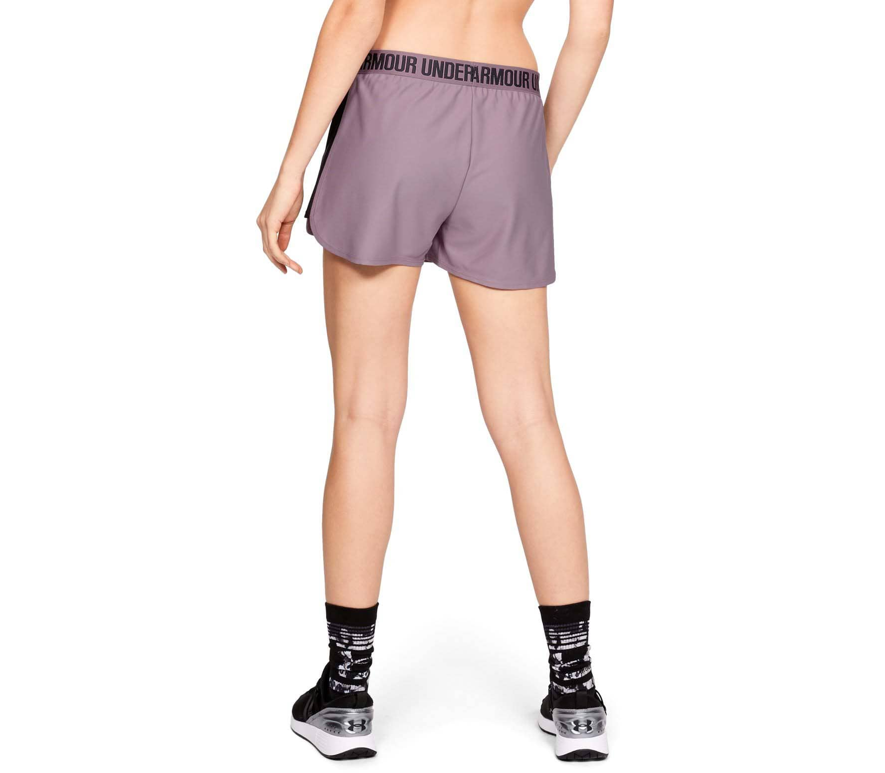 under armour play up 2 0 damen shorts lila im online shop. Black Bedroom Furniture Sets. Home Design Ideas