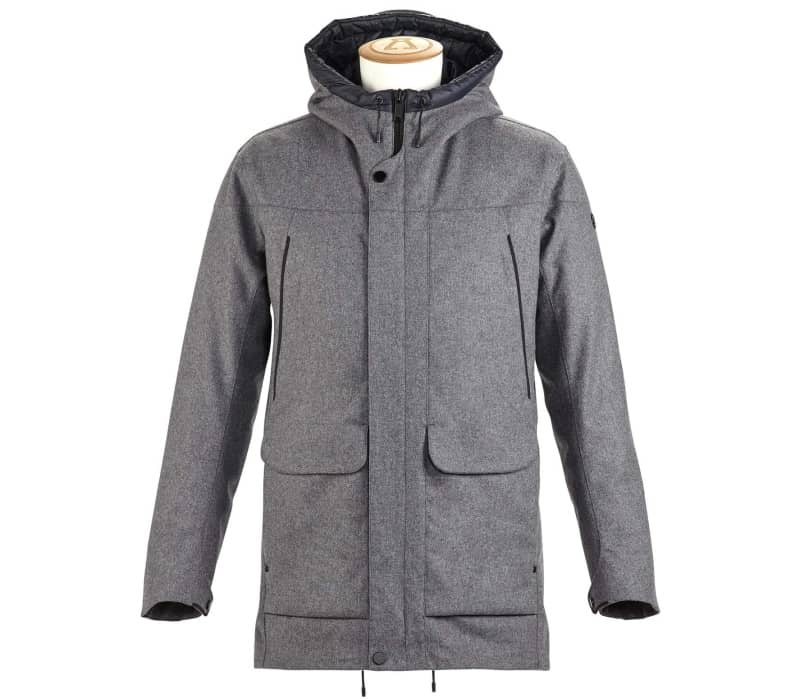 Insulated Tech Wool Men Coat