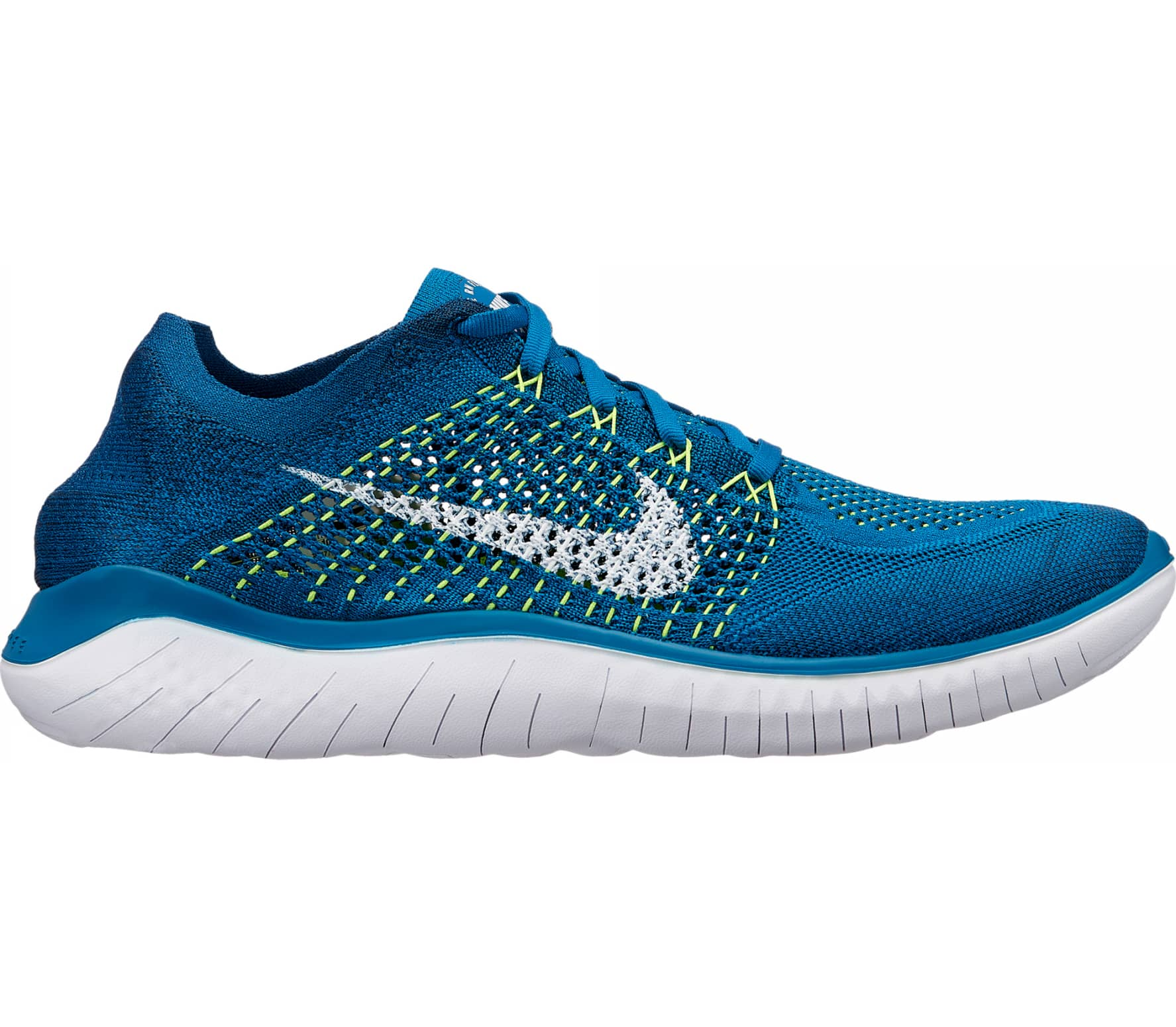 bcc108d5930f Nike - Free RN Flyknit 2018 men s running shoes (blue) - buy it at ...