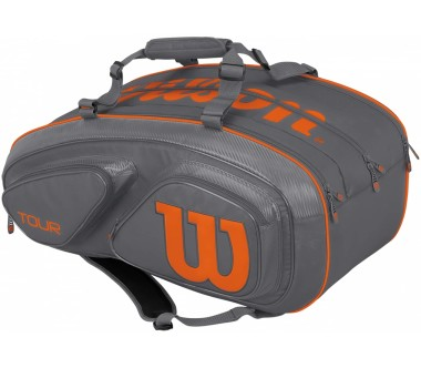 Wilson - Tour V 15 Pack Gyor Tennistasche (grau/orange)