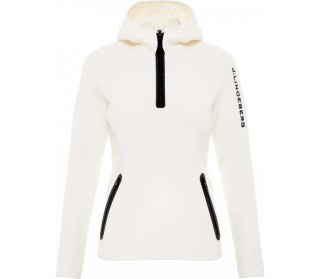 Logo hood tech sweat Damen