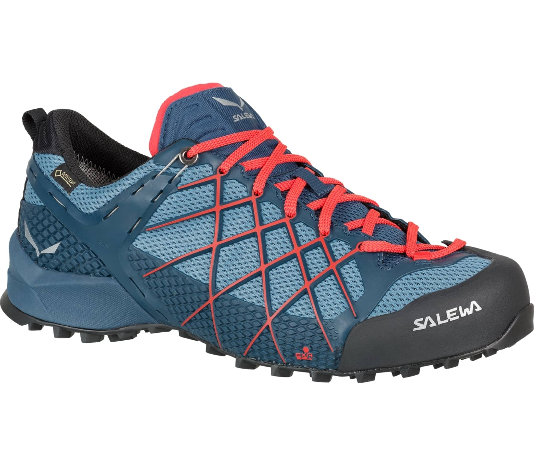 Salewa - Wildfire GTX men's Approach shoes (blue/orange)