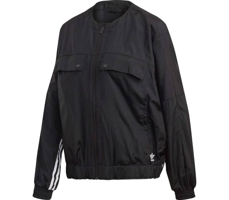 Black Damen Track Jacket