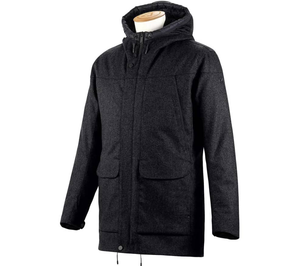 Insulated Tech Wool Hommes Manteau