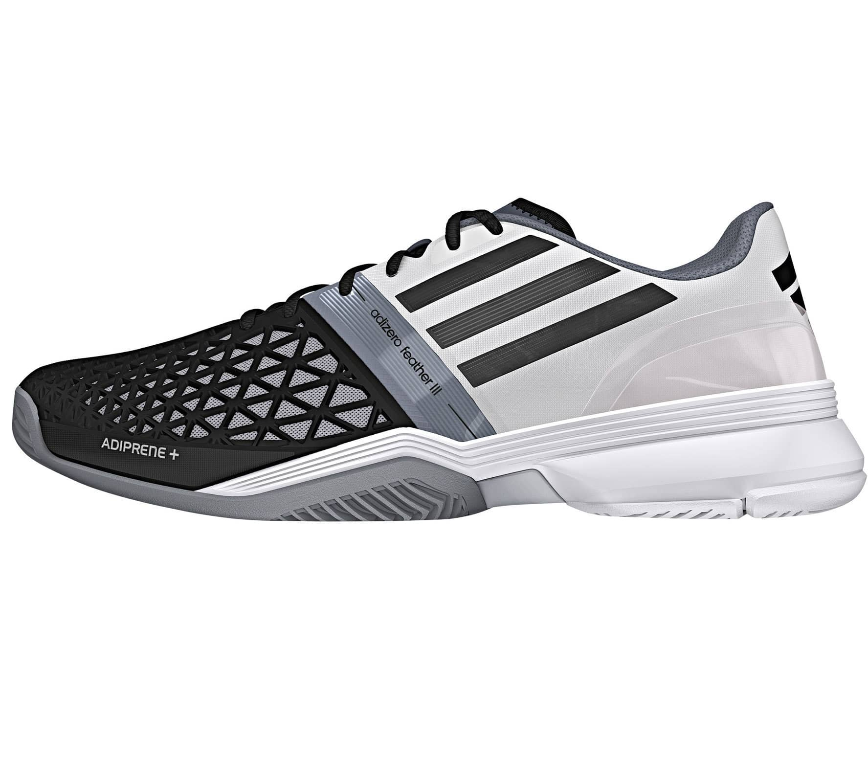 low priced 5ebe2 dc160 CC Adizero Feather III mens tennis shoes (blackwhite)