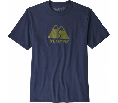 Patagonia - Live Simply Winding Responsibili men's top (blue)