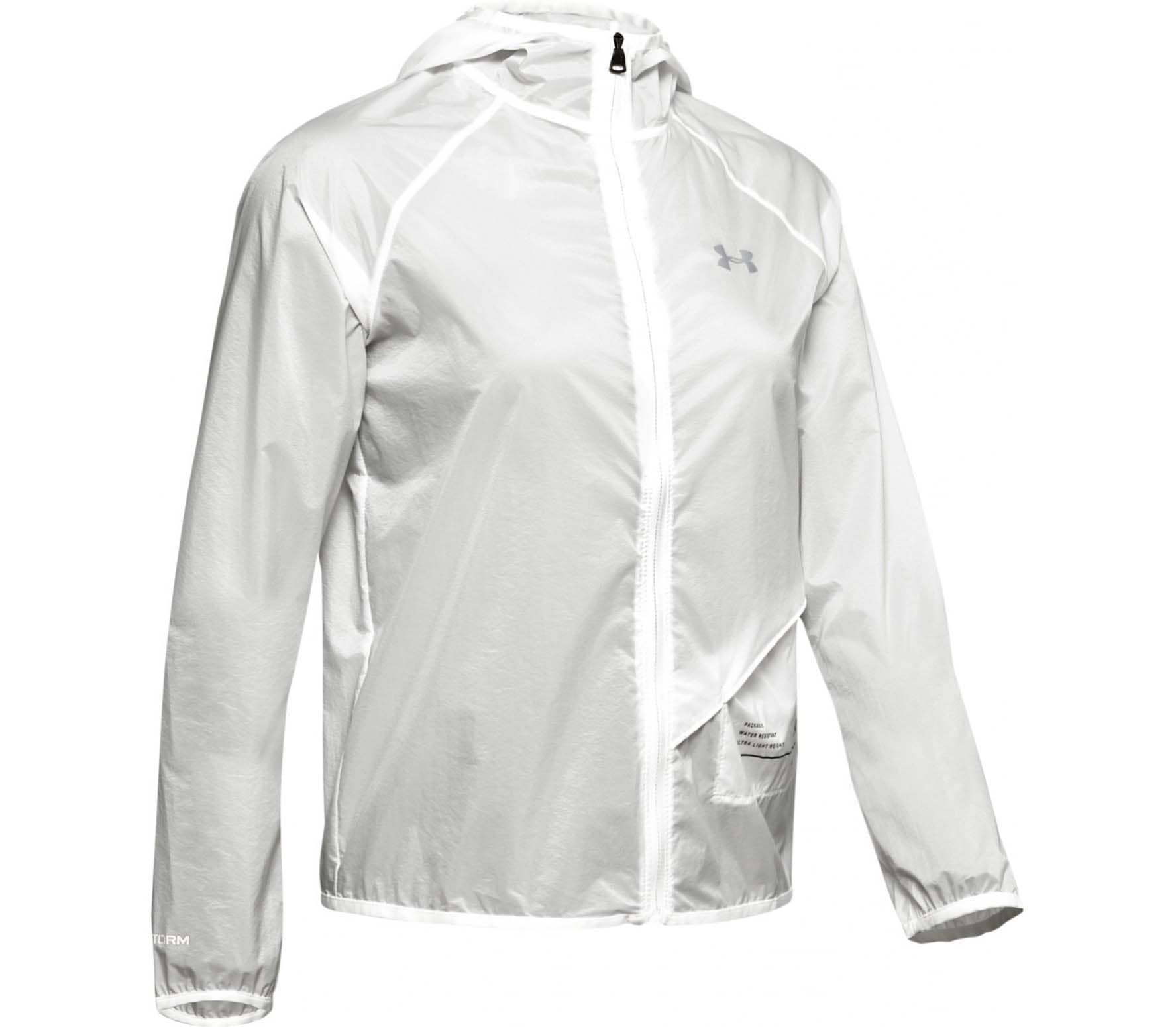 Under Armour Qualifier Storm Packable Damen Laufjacke weiß