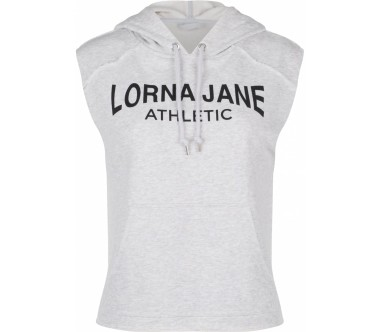 Lorna Jane - Athletic sleeveless women's training hoodie (grey)
