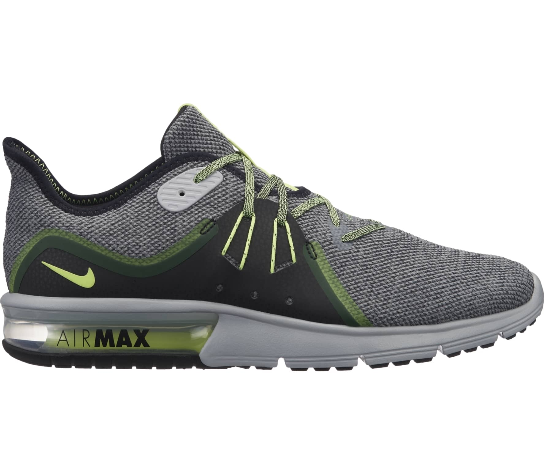 lowest price 55505 381b5 Nike - Air Max Sequent 3 men s running shoes (grey green)