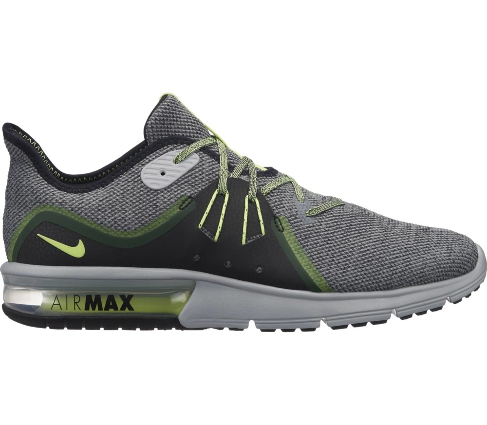 ba5fe05294de Nike - Air Max Sequent 3 men s running shoes (grey green) Køb online ...