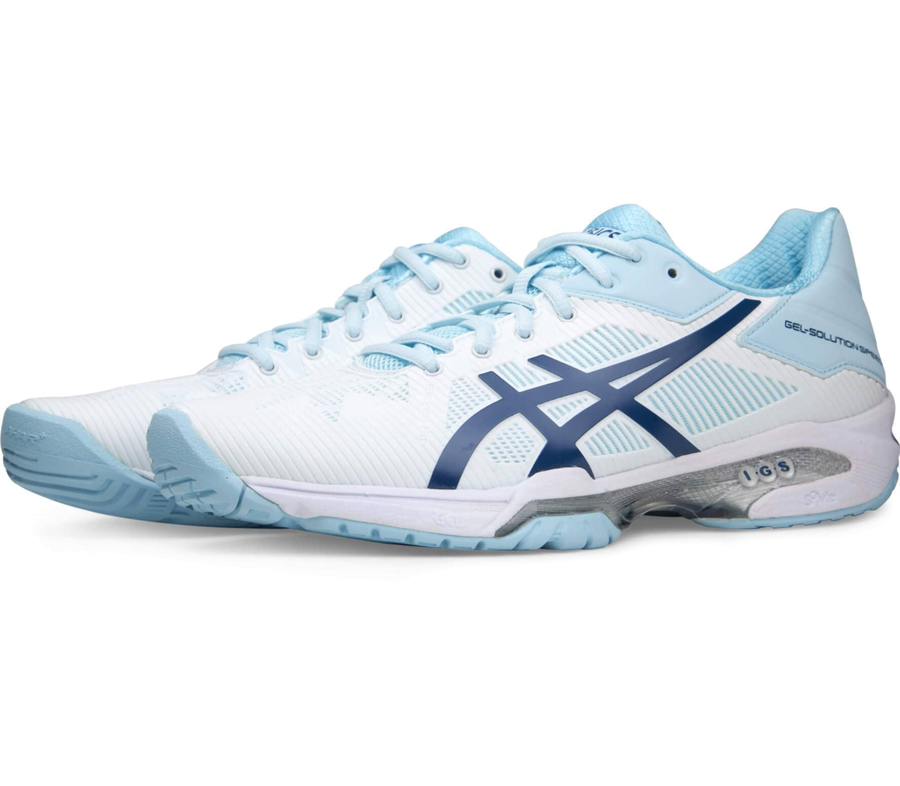 ASICS - Gel-Solution Speed 3 Damen Tennisschuh (weiß/hellblau)