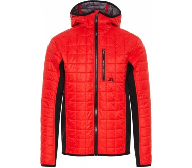 J.Lindeberg - Atna Hybrid Hood Pertex men's skis jacket (red)