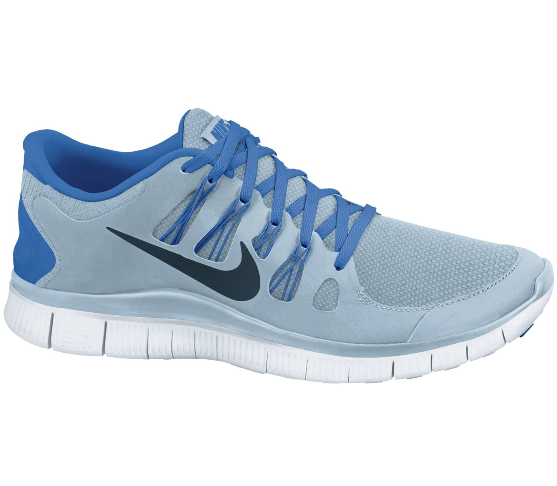 nike free 5 0 herren laufschuh blau im online shop von. Black Bedroom Furniture Sets. Home Design Ideas