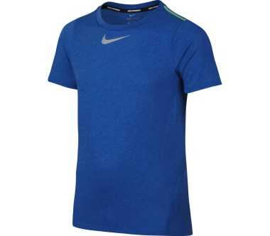 Nike - Dry Shortsleeve children's running top (blue/green)