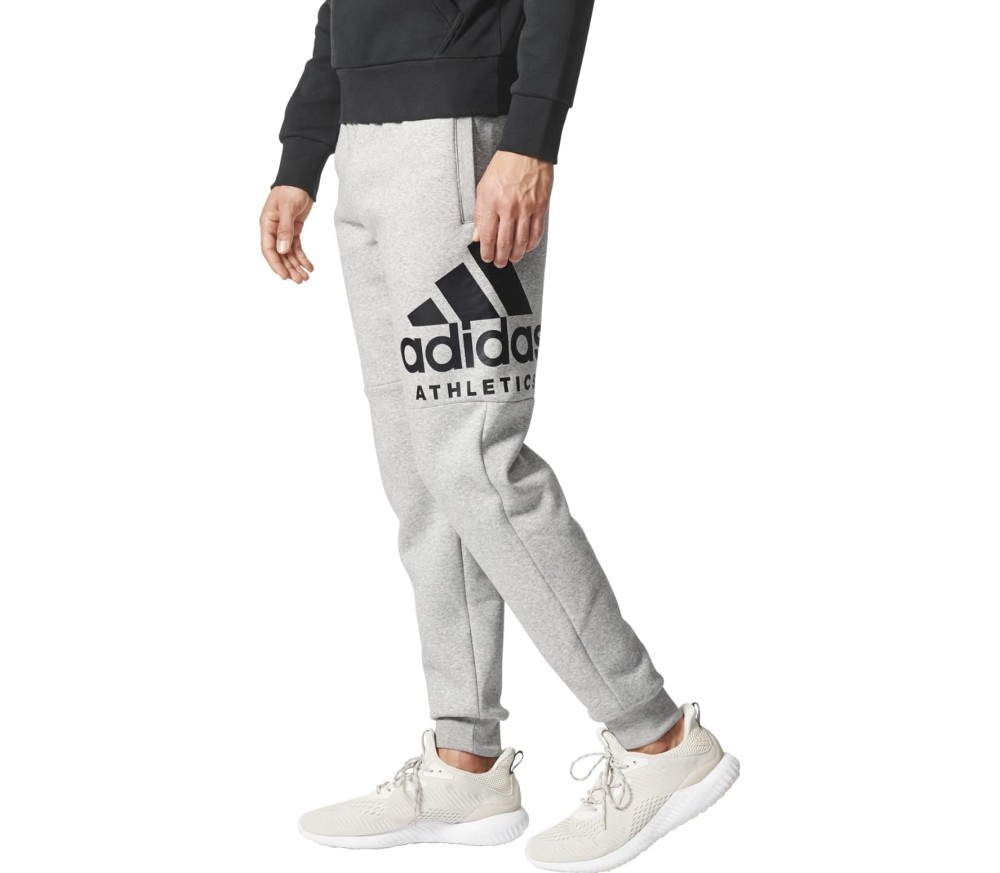 58bad00ddf0a5 Adidas - Sport ID Branded Tapered fleece men's training pants (grey ...