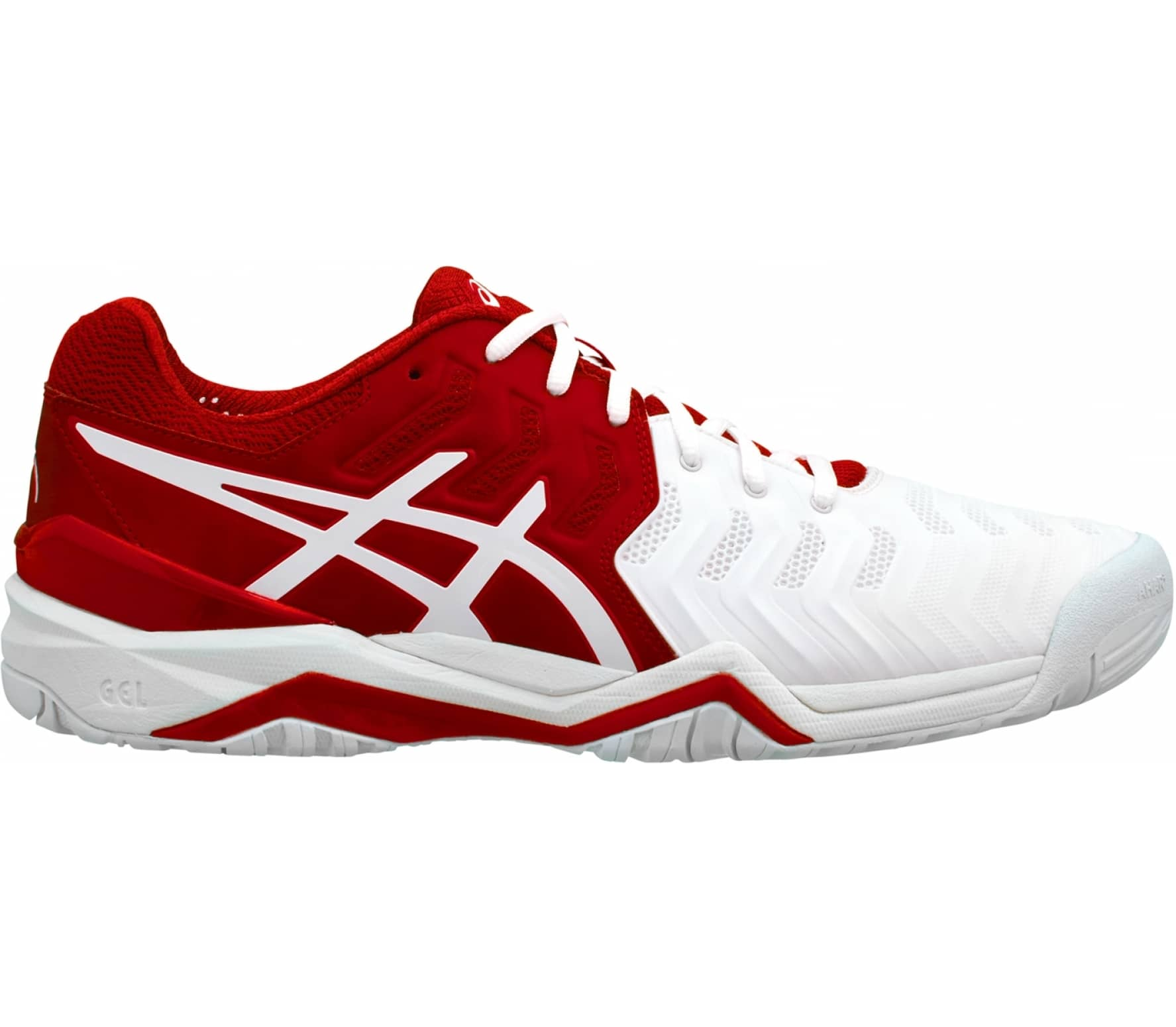 ASICS - Gel-Resolution Novak Herr Tennisskor (röd) - EU 40,5 - US 7,5