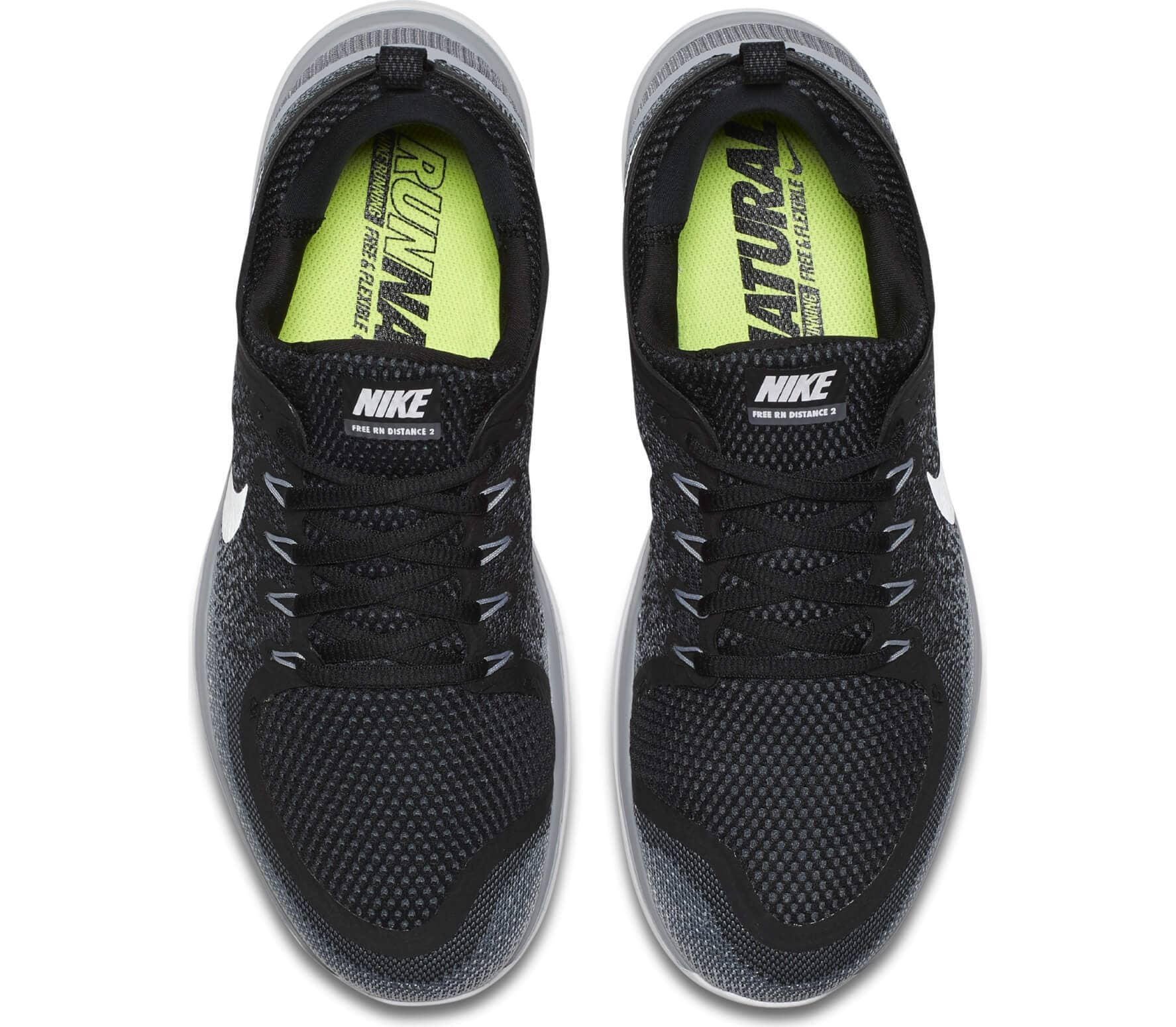 new style 41788 dded1 Nike - Free RN Distance 2 zapatillas de running para hombre (negro blanco)