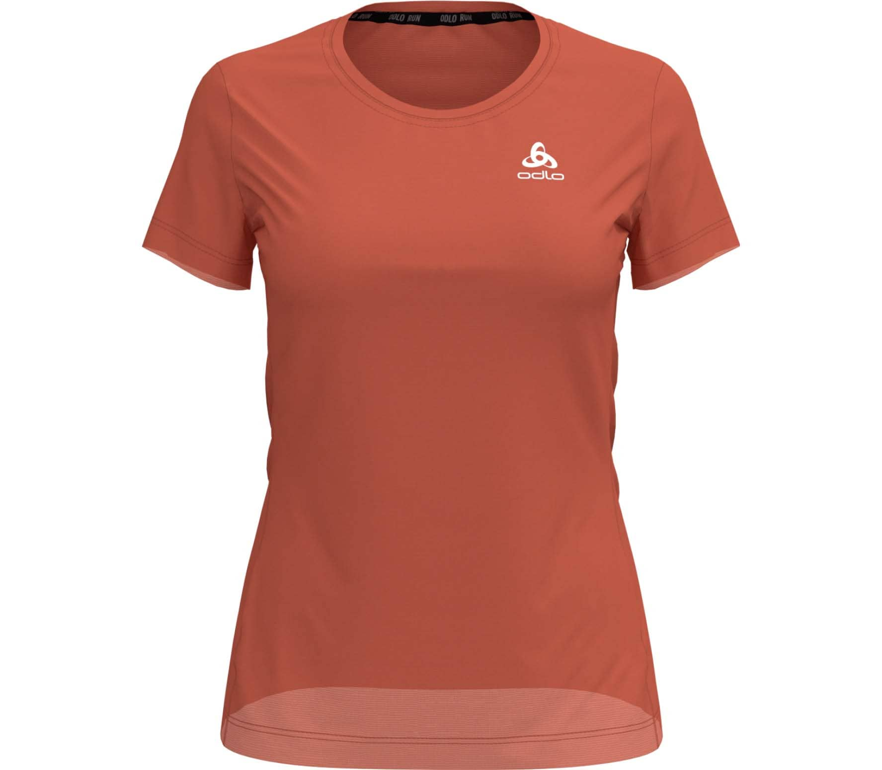 Odlo - BL Crew Neck Element Light Femmes chemise de course (Orange)