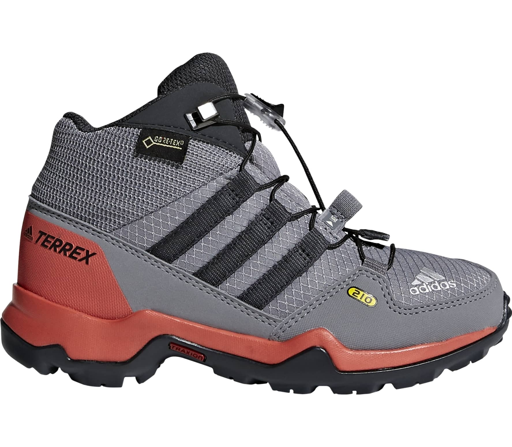 232f136c60a6d Adidas - Terrex Mid Gtx Children hiking shoes (grey red) - buy it at ...