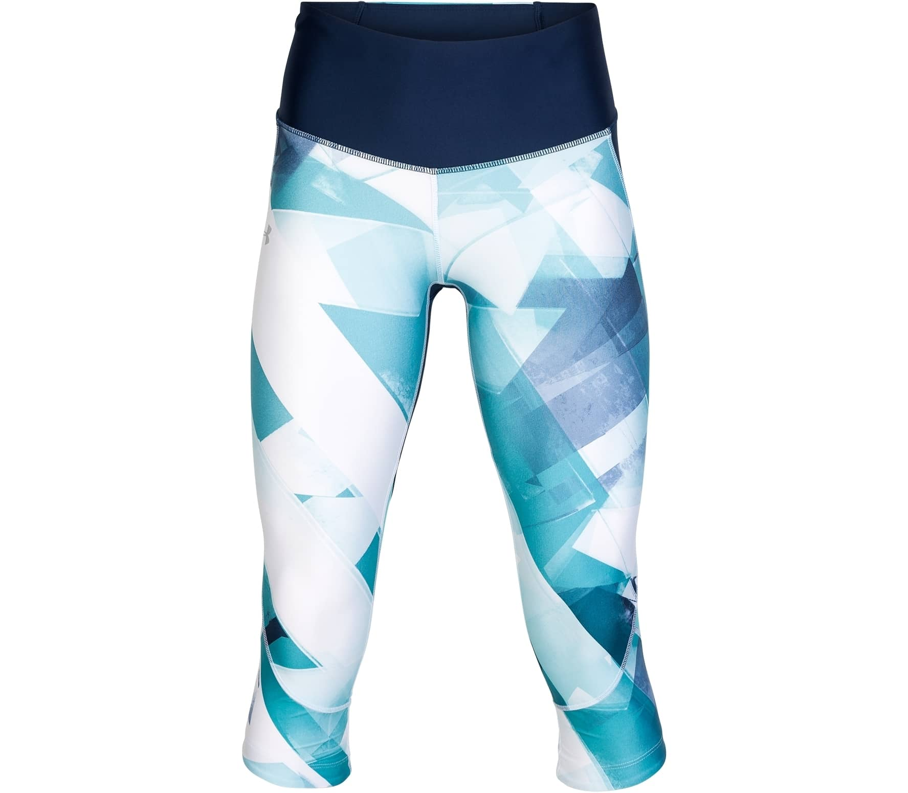 157dc454e5f71 Under Armour - Armour Fly Fast Printed capri pants women's running pants  (blue/white